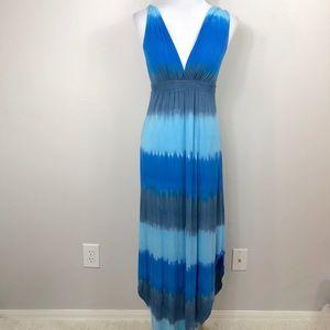 Gypsey05 La Bra Dee Bamboo Twist Gypsy Maxi Dress